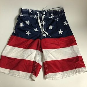 Old Navy America Flag swim shorts